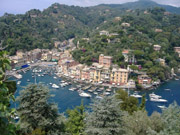 <b> View of Portofino from Castello Brown </b>