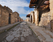 One of the streets in Pompeii