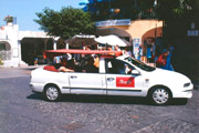 Typical taxi of the island of Capri