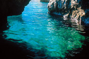 Torquoise colour of the water of Capri