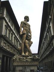 View of Uffizi from Piazza della Signoria square