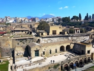 <b>Herculaneum view with Vesuvius on the background </b>