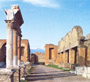 The entrance of the Macellum (food market) in Pompeii