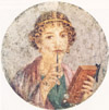 Fresco of a young lady from Pompeii