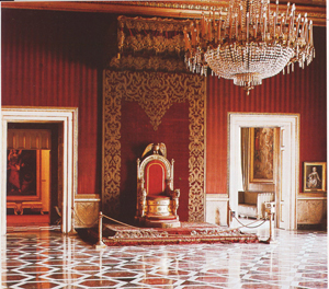Royal Palace of Naples: the room of the Throne