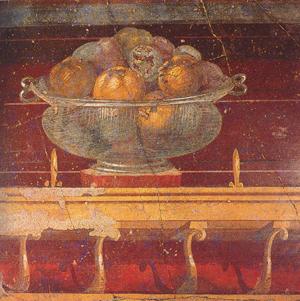 A fresco representing some figs